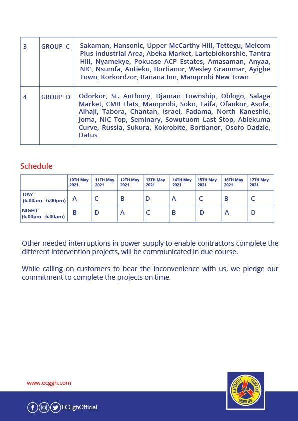 'Dumsor' timetable finally out. 7