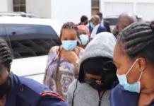 Actress Rosemond Alade Brown, aka Akuapem Poloo on her way to jail after the sentence