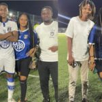 Farida Mahama and her brother and some friends