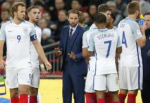 Southgate with England players