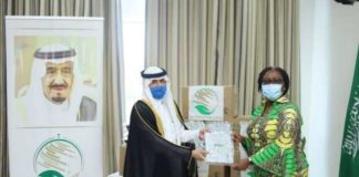 The Ministry of Foreign Affairs received the donation on behalf of government