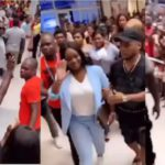 Jackie Appiah at a mall