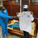 Gabby Otchere Darko with Great Olympics jersey