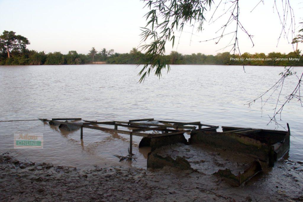 Galamsey activities affect River Pra | Photo by Adomonline.com | Gershon Mortey
