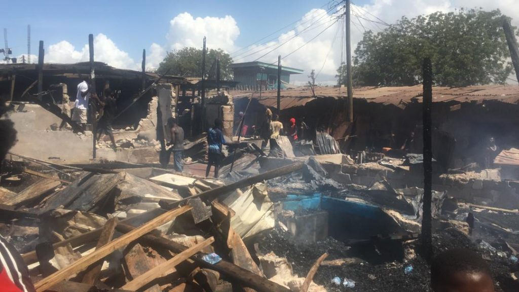 Traders helpless as fire razes part of Kantamanto timber market