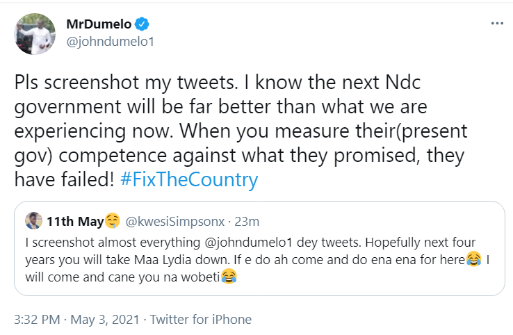 The next NDC government will be far better than this NPP - Dumelo
