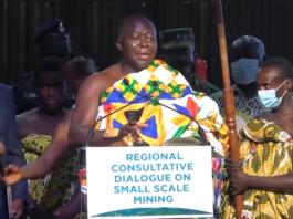 Asantehene Otumfuor Osei Tutu II at the Regional Consultative Dialogue on Small Scale Mining