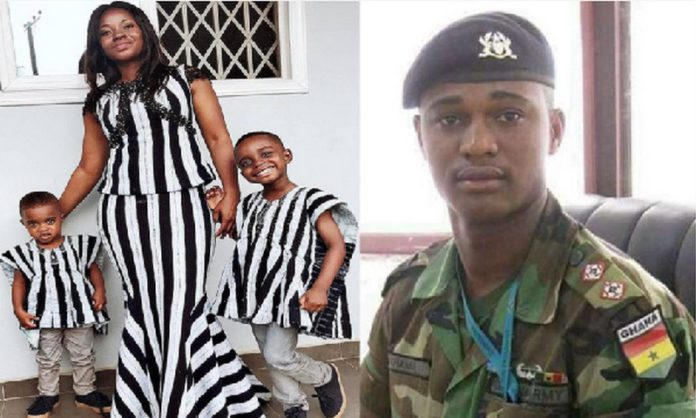 Major Mahama's wife and kids