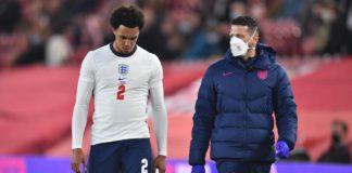 Trent limps off against Austria Image credit: Getty Images