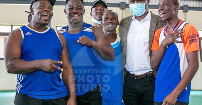 Sports Minister with Black Bombers