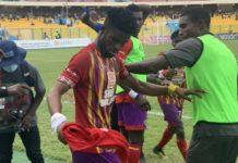 Afriyie Barnieh celebrates his goal against Asante Kotoko