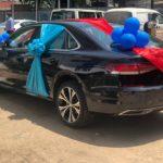 Samson Lardy receives GJA prize car