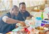 Stephen Appiah, Michael Essien and Fiifi Tackie