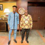 Callum Hudson Odoi and President Akufo Addo