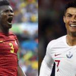 Asamoah Gyan and Ronaldo