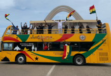 Ghana Tourism Authority outdoors 'Aunty Deede' buses