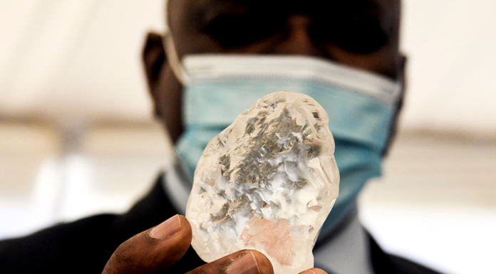 One of the world's largest diamonds has been unearthed in Botswana   Credit: Monirul Bhuiyan/AFP/Getty Images
