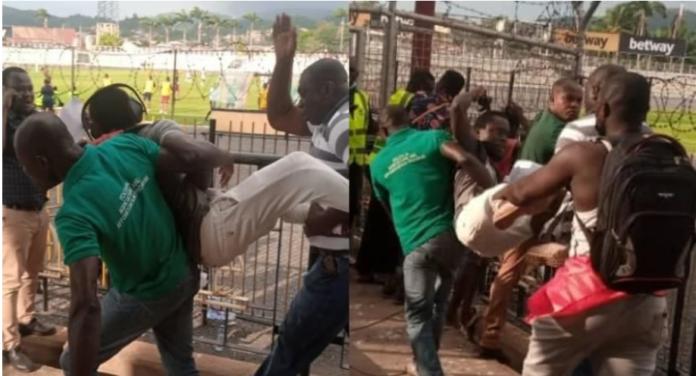 Kotoko supporters heckling journalist