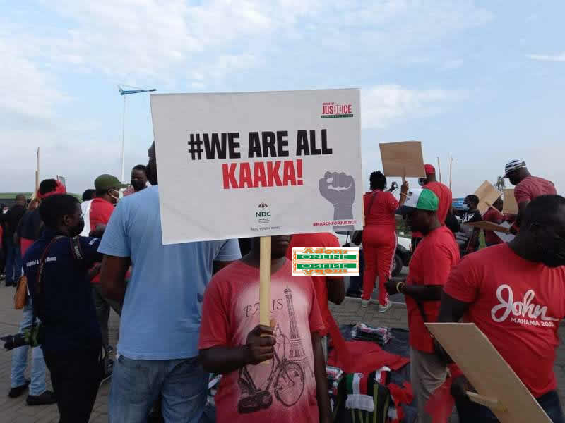 NDC embarks on 'March For Justice' demo