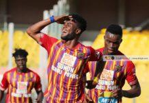 Afriyie Barnieh celebrates