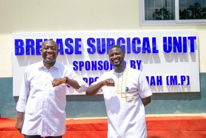 MP Oppong-Nkrumah with Dr. Prince Koranteng Ampaw (right)