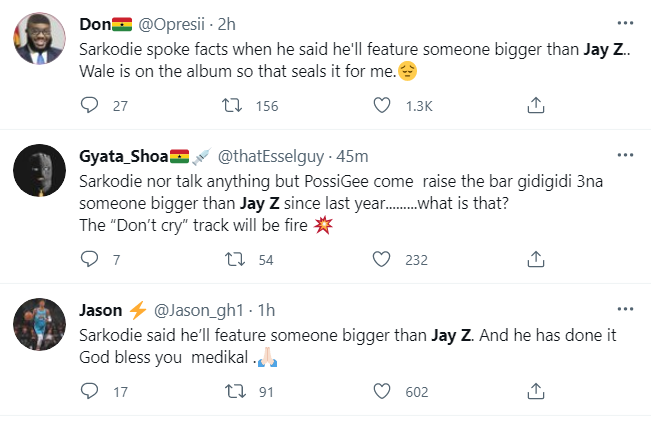 Jay-Z trends on Twitter after Sarkodie drops tracklist for 'No Pressure' album