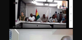 2020 Tokyo Olympics: Ghana's Ambassador To Japan, Frank Okyere Chairs Zoom Meeting With Team Ghana