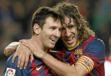 Carles Puyol and Messi