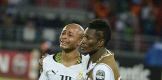 Andre Ayew and Asamoah Gyan