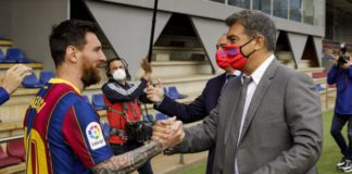 Messi and Barcelona president