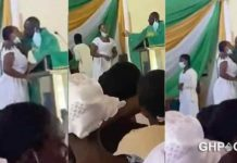 Reverend Father recorded kissing female students