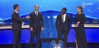 Michael Essien during 2021/22 Champions League draw