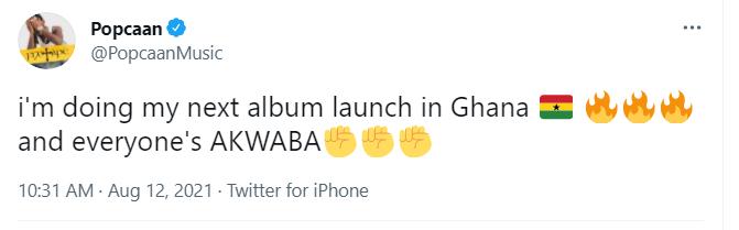 Jamaican music star Popcaan to launch next album in Ghana | Adomonline..com