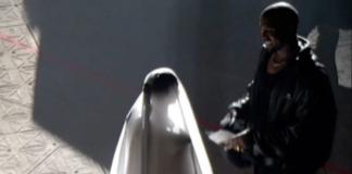 Kanye West joined by wedding dress-wearing Kim Kardashian at Donda launch event