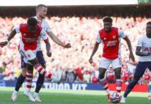 Bukayo Saka scored his first Premier League goal for Arsenal since January
