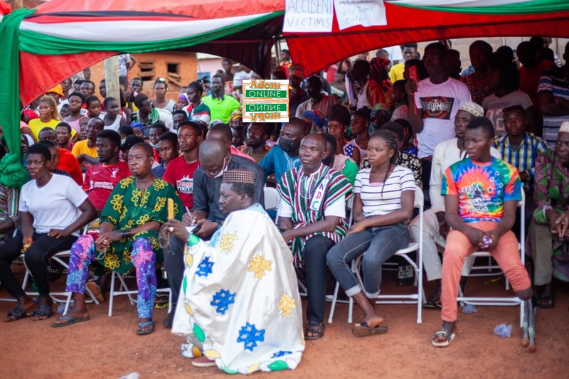 Mahama meets NDC supporters who lost livelihoods after accident in November