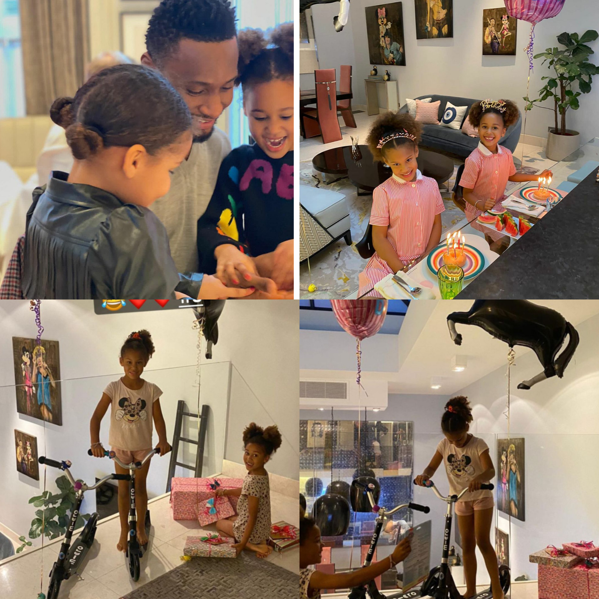 Mikel Obi celebrates his twin daughters as they turn 6 - Adomonline.com