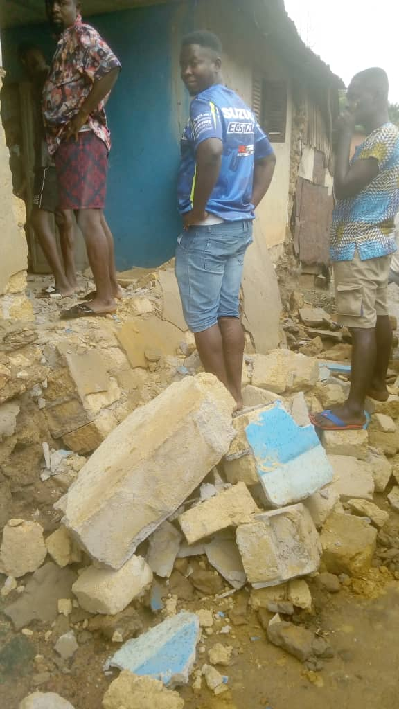 Man dies after building collapses on him while asleep