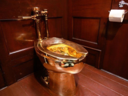 The fully-functioning solid gold toilet was installed at Blenheim Palace and worth nearly £5m | GETTY IMAGES
