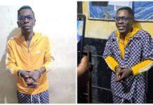 shatta wale in handcuff