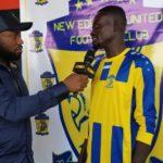 Asempa FM and Adom Head of Sports, Wallace with Kwadwo Nkansah