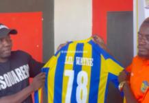 Club president, Abdul Salam Yakubu with Lil Win